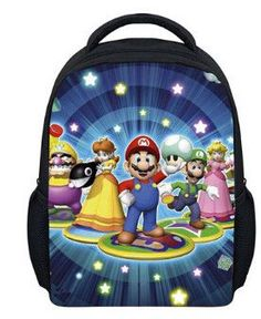 13 Inch Anime Sonic Super Mario Backpack Students School Bags Boys Girls Daily Backpacks Children Bag Kids Best Gift Backpack