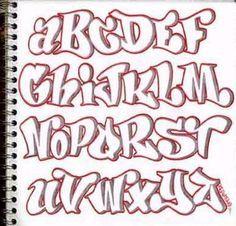 Imagenes de letras de graffitis en bomba abecedario  Imagui
