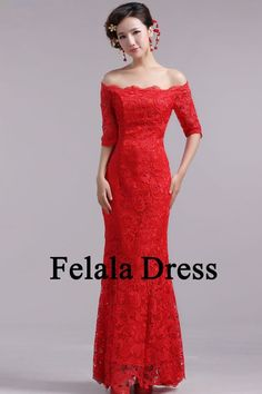 red lace evening gown - Google Search