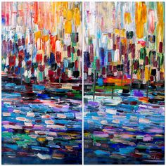 """Huge original modern art Oil painting Abstract Painting Modern Impasto Texture canvas by Tim Lam 48""""  x 48"""""""