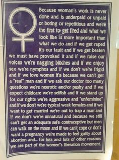 hell to the yes for women's liberation movement