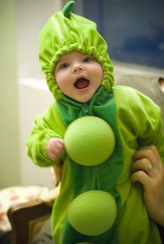 Halloween- The one day of the year little kids can dress up like vegetables and look even cuter than they normally do. FRICKEN ADORABLE!