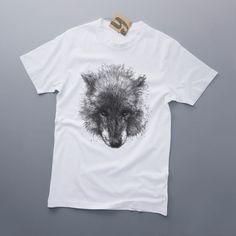 Camisetas básicas - WOLF men's - hecho a mano por YURCOV en DaWanda #moda #hombre #modamasculina #bisuteríahombre #pulserashombre #DaWanda #fashion  #hechoamano #diseño #handmade #DIY