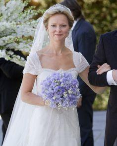 Prinses Maria-Carolina koos ook voor dit diadeem op haar trouwdag.