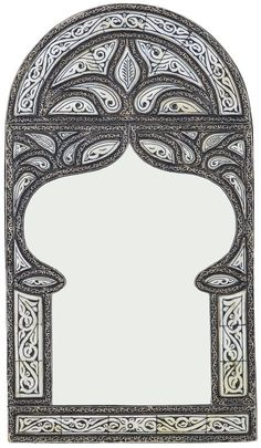 One Kings Lane Vintage Moroccan Engraved Wall Mirror - The Moroccan Room Moroccan Mirror, Moroccan Room, Moroccan Style, Photos Islamiques, Cnc Cutting Design, Epoxy Resin Art, Arabesque Pattern, Wooden Pallet Projects, Ramadan Decorations