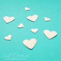 DIY Glitter Enamel Hearts Tutorial | Small T Creations