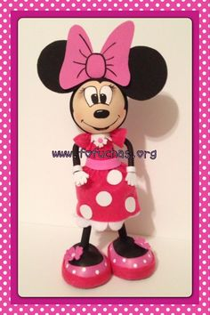Minnie Mouse order yours today! Can Make a lovely centerpiece decoration,room decor, Birthday gift. More info email info@fofuchas.org #Minnie Mouse #Birthday #fofuchas