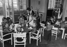 On-Site Daycare at the Steelworks in Riesa (April 1951)- The number of daycare facilities for children aged three and younger rose from 61 in 1950 to 307 in 1955, bringing the number of individual daycare slots from around 1,050 in 1950 to 12,600 in 1955. The number of kindergartens for three- to six-year-olds (excluding seasonal facilities) also increased, from approximately 4,300 in 1949 to over 6,900 in 1955. As a result of the expanded daycare network, the share of women in the workforce…
