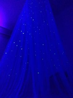 Star canopy bed curtain