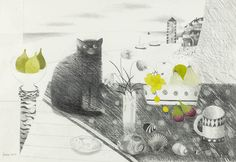 Mary Fedden | Black Cat
