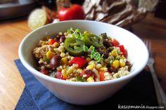 Kaszomania - pomysły na dania z kaszy jaglanej: Jaglana sałatka z papryczkami jalapeño