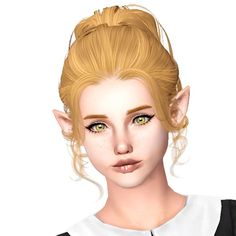 Newsea`s Hanna hairstyle retextured by Sjoko for Sims 3 - Sims Hairs - http://simshairs.com/newseas-hanna-hairstyle-retextured-by-sjoko/