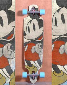 Mickey Retro - Longboard by Marcelo Marquini / www.creativeboysclub.com/tags/marcelo-marquini