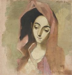 View Spring Madonna By Helene Schjerfbeck; Oil on canvas; Access more artwork lots and estimated & realized auction prices on MutualArt. Helene Schjerfbeck, Futuristic Art, Sick Kids, Fashion Painting, Conceptual Art, Art World, Impressionist, Madonna, Art Reference