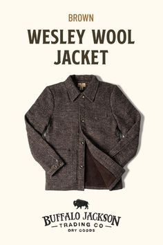 Our men's wool jackets are the perfect weight to keep you warm without all the bulk. With the clean, casual style and cut of a riding jacket, you're good to outfit it with jeans and boots. Available in multiple colors, these wool jackets for men make great gifts for guys | dads | men who have everything. #giftsforhim #mensfashion Great Gifts For Guys, Best Gifts For Men, Casual Professional, Riding Jacket, Dry Goods, Jeans And Boots, Wool Jackets, Men's Outerwear, Mens Fashion