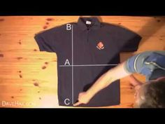 How to fold a shirt in less than 2 seconds