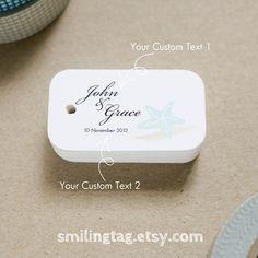 Beach Seaside Theme Wedding Favor Tags Gift Starfish Thank You Set Of 40 Item Code