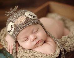 Prop photo nouveau-né, chapeau nouveau-né, garçon nouveau-né, fille nouveau-né, les accessoires nouveau-né, chapeau de birdie Sleepy en taille nouveau-né.
