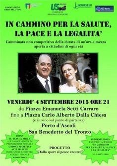 """""""In cammino per la salute, la pace e la legalità"""" il 4 settembre in ricordo del generale Dalla Chiesa"""