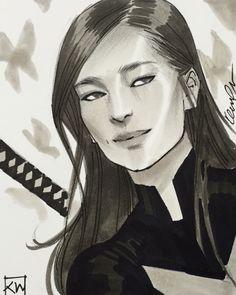 kevin wada illustration: Psylocke in Anka