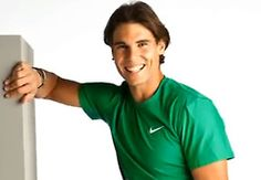 Smiley Rafael Nadal at Banesto photoshoot