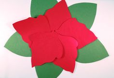 Poinsettia craft idea.