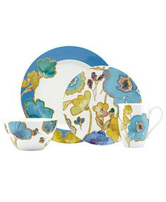 Lenox Dinnerware, Floral Fusion Blue Collection