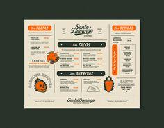 restaurant menu Santo Domingo Branding by The Hungry Design Co Inspiration Grid Menu Restaurant, Restaurant Design, Restaurant Identity, Grid Design, Web Design, Layout Design, Graphic Design, Cafe Menu Design, Food Menu Design