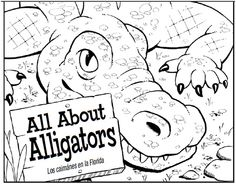 All About Alligators Coloring Book