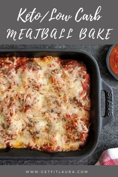 Keto low carb meatball bake keto meatballs recipe with marinara juicy delicious keto meatballs! this is a really easy gluten free meatballs you ll love! noshtastic com ketorecipes ketomeatballs lowcarbmeatballs ketodiet Keto Foods, Ketogenic Recipes, Low Carb Recipes, Diet Recipes, Cooking Recipes, Healthy Recipes, Keto Meal, Keto Snacks, Low Carb Hamburger Recipes