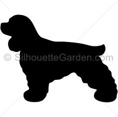 Cocker Spaniel silhouette clip art. Download free versions of the image in EPS, JPG, PDF, PNG, and SVG formats at http://silhouettegarden.com/download/cocker-spaniel-silhouette/