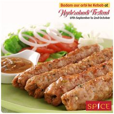 Hyderabadi Festival is in full flow. Enjoy the magic of Badam aur arbi ke Kebab. It is created out of Colocassia and almond blended with fresh herbs and rolled in patties shallow fried #FinediningSpice