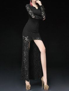asymmetrical dresses with lace for special events