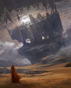 Science-fiction et fantasy sont au programme des oeuvres de Arnaud Pheu, un concept artist basé au Canada. Combats contre des dragons à dos de cheval, sombres cités futuristes et paysages rocailleux répondent à l'appel. Nous vous invitons à visiter son blog et son ArtStation pour en voir davantage.