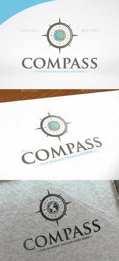 World Compass Logo Template PSD, Vector EPS, AI. Download here: http://graphicriver.net/item/world-compass-logo-template/15276190?ref=ksioks