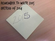 Elissa's resolution - remember to write 2015 instead of 2014.