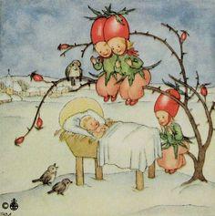 ida bohatta vintage christmas miniature by daisychainvintage, weer een lief kaartje lb xxx.