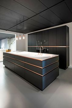 Create a pleasant cooking impression with a modern kitchen design that you can apply to your home. You will feel more fun cooking in this modern kitchen. Black Kitchen Cabinets, Black Kitchens, Luxury Kitchens, Kitchen Walls, Kitchen Black, Dream Kitchens, Wood Cabinets, Colorful Kitchens, Kitchen Soffit