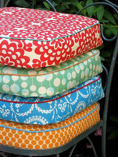 Patio Cushions - This must have taken forever!