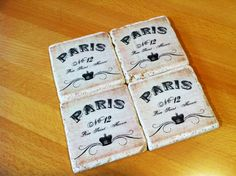 Something about Paris! Drink coasters by 5 Creations Handmade Decor