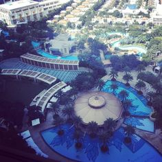 Looking out the window struggling to pick a pool @jwmarriotthotels #macau #marriottrewards