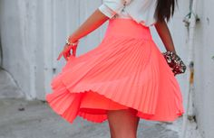 I'm on a pleats and coral kick so this is icing on the cake