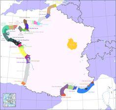 Map of French Coastal Names