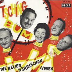 """Will Glahé, Tsching Bum, """"Die Neuen Närrischen Lieder"""" (Germany, 1961)"""