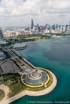 Adler Planetarium, Shedd, and Chicago Skyline Photograph - Fine ...