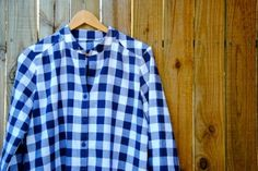 gingham blouse :: Grainline Archer/Country Road mish-mash