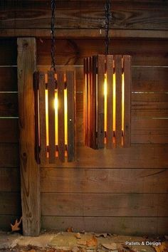 Lamps made from pallets