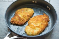 Crispy Parmesan Crusted Chicken So I have actually tried this recipe multiple times; back at school I'm on Cuisine Team and we had an Italian themed dinner, and this is what I made for everyone. It was a huge hit! They all love it, the chicken turns out so crisp on the outside, yet tender and juicy on the inside.