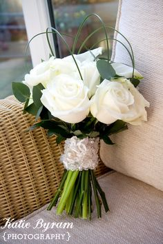 White roses for a winter wedding http://photographybykatie.co.uk/