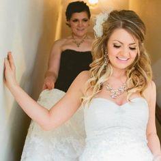 Beautiful!!! Wedding hair, wedding makeup, sweetheart dress!! <3!! @stephaniepetrucci and @juliapetrucci